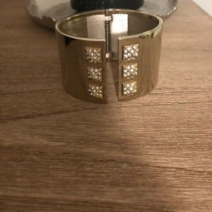 Victoria's Secret Gold & Rhinestone Cuff Bracelet